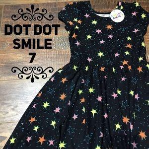 New Super Soft Girls Dot Dot Smile Dress 7